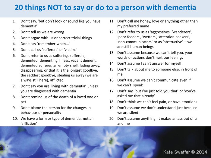 Kate Swaffer Dementia advice